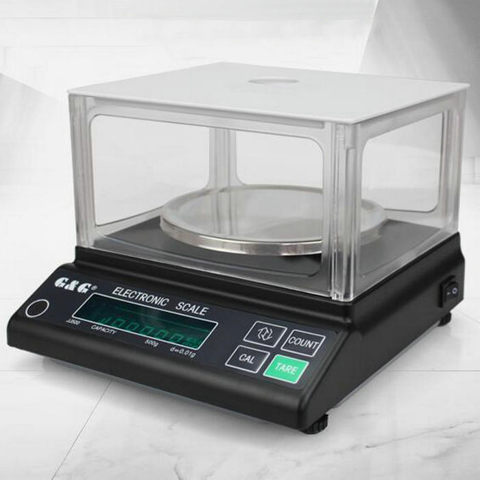 купить JJ series Digital Precision electronic scale, round scale panel analytical balance with windshield for Lab по цене 8507.85 рублей