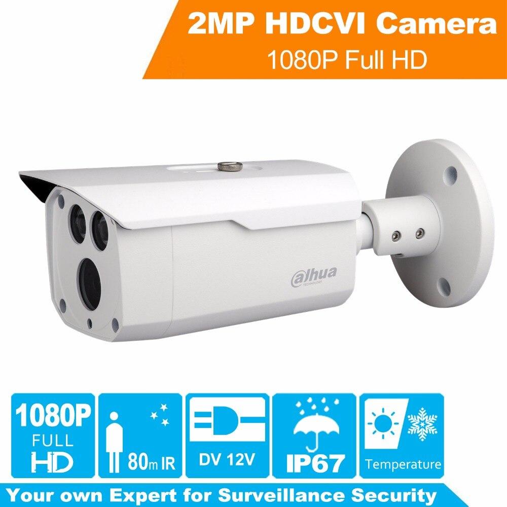 Full HD Security Camera 2MP CVI Bullet IR Camera HAC-HFW1220D 1080P IR 80M Day/night Video Security Surveillence Indoor/Outdoor full hd security camera hac hfw1220r vf ire6 2mp ir bullet cvi camera 1080p night version cvi camera built in sd