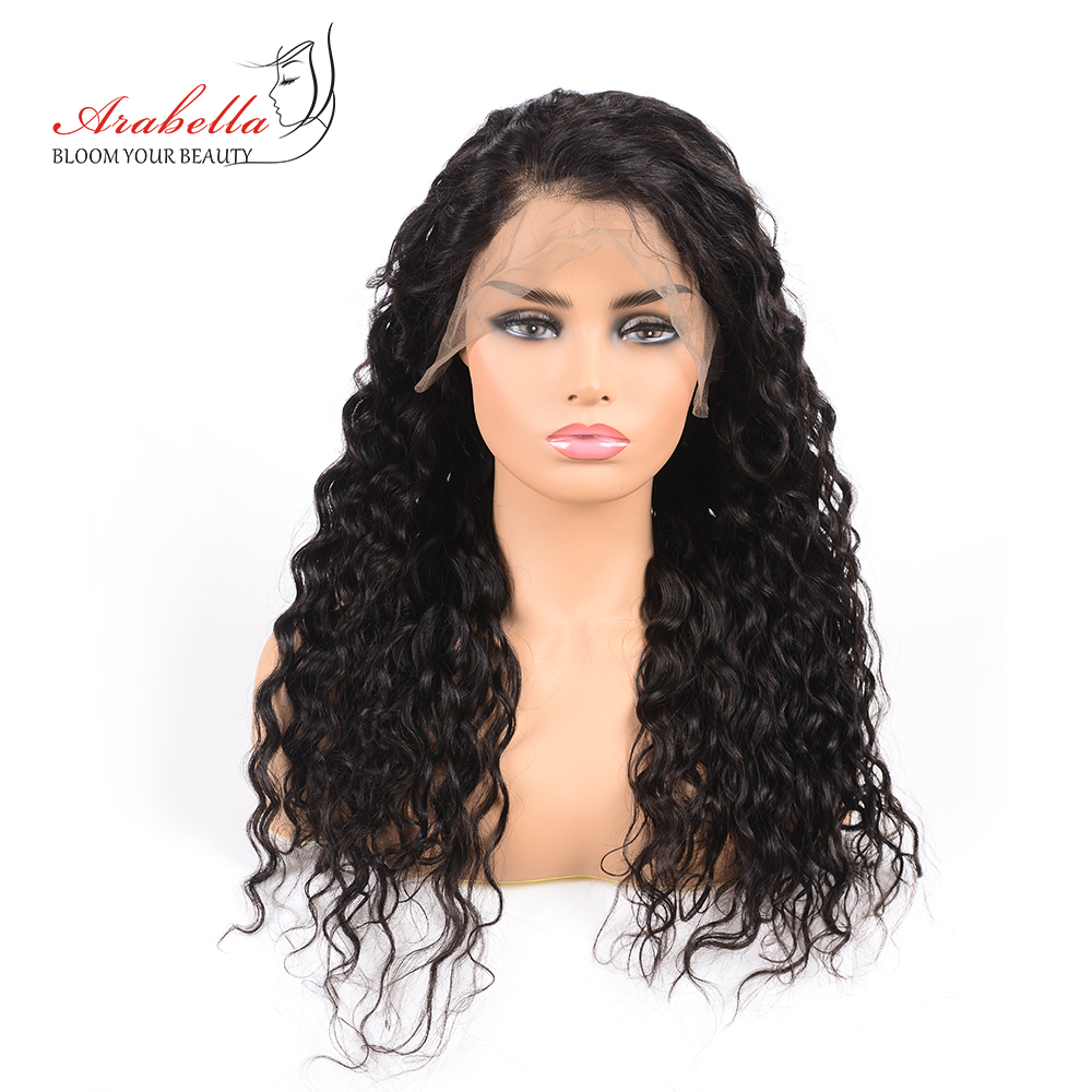Brazilian Water Wave 13 4 Lace Frontal Wig Arabella Remy Hair 180 Density Lace Front Human