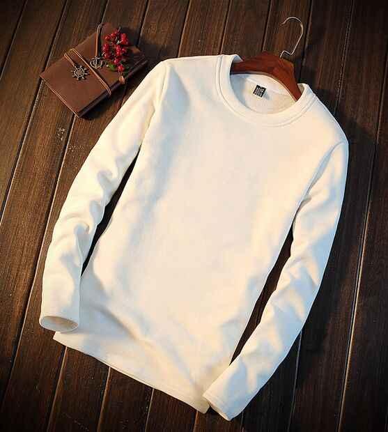 YSMILE Y #100-103 ブランド品質秋男性の純粋な綿暖かい秋の服の男性の白黒ライトブルーブラウン長袖シャツ