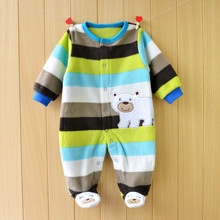 Baby Rompers Autumn Winter Baby clothes long sleeved coveralls Boy Girl romper Polar Fleece baby Clothing