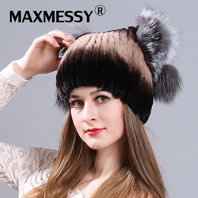 MAXMESSY Winter new fur lady hooded fur fur cold warm no eaves rabbit hat hot sale hat rabbit hair lady autumn winter new weaving small pineapple fur hat in winter to keep warm very nice and warm comfortable