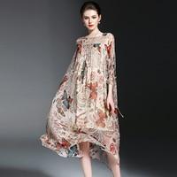 100% шелк платье Для женщин печати Простой украшения о Средства ухода за кожей Шеи Кружево Up рукава «летучая мышь» Класс Ткань милая, стильная