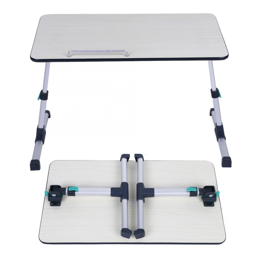 Image 5 - Adjustable Laptop Desk for Home Laptop Stand Portable Standing Desk Laptop Computer Table Foldable Sofa Breakfast Bed Tray Table-in Laptop Desks from Furniture
