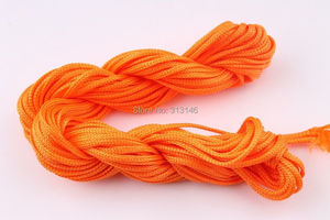 Image 4 - Wholesale 40 Roll Assorted Color 1mm 1.5mm Macrame Beading Rattail Braided Nylon Cords Kumihimo String Thread for Jewelry Making