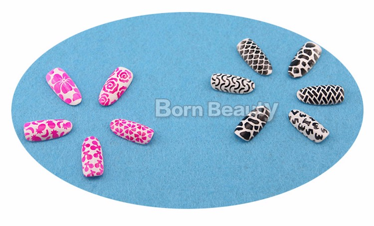 1sheet Silver Hollow Nail Art Template Stencil Stickers Fish Scale Vinyls Image Polish Design Guide Manicure Tools 16