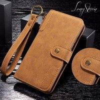Long Steven For Samsung Note 8 Case Cowhide Leather Wallet Filp Cover Strap Pocket Kickstand