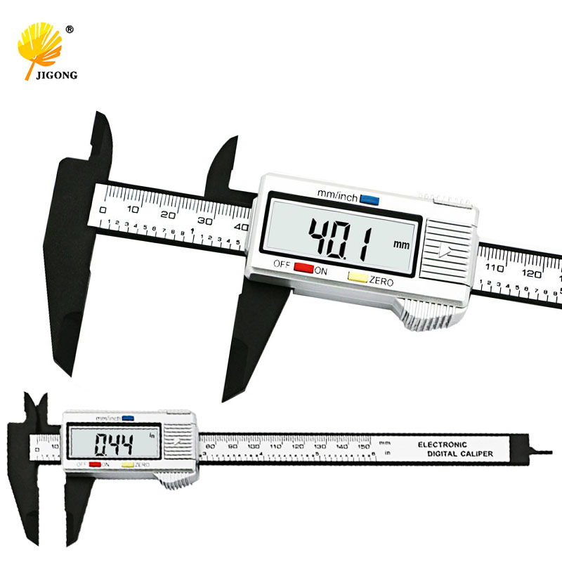 Jigong alta qualidade 6 polegada 150 mm digital vernier caliper micrômetro guage widescreen eletrônico com precisão de medição