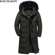 49ead0c616819 KOLMAKOV New Men s Duck Down Coats Winter Mens Goose Down Jacket for Big  Tall Man X