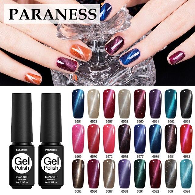 Paraness Nail Design 24 Color Magnetic 3D Cat Eye Gel Nail Polish ...