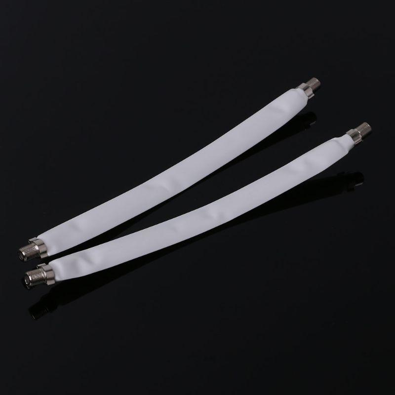 2PCS Window Flat F Connector Cable Coax Coaxial RG6 RG-6Door TV Satellite