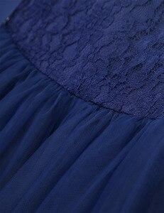 Image 5 - キッズガール刺繍フローラルレースちょう結びフラワーガールドレスプリンセスページェント誕生日パーティードレス