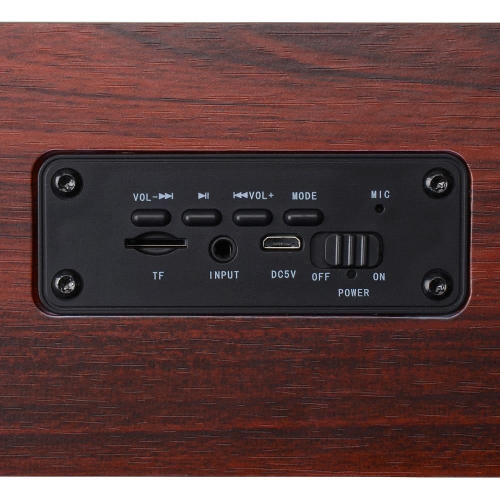 Փայտե անլար Bluetooth բարձրախոս Բարձր - Դյուրակիր աուդիո և վիդեո - Լուսանկար 5