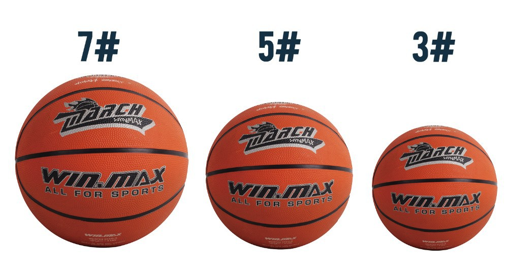 17 Winmax Hot Sale Outdoor Indoor Game Size 3 / Size 5 / Size 7 Small Rubber Pelota Basketball Ball for Baby Child 4