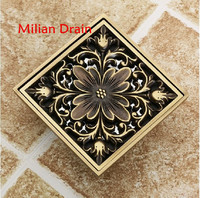 Free Shipping 2014 New Design Brass Luxry Floor Drains Custom Made Item Bathroom Accessory On Sale