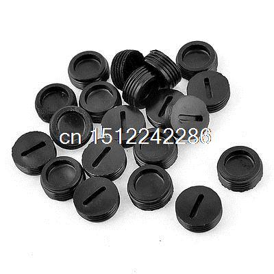 Black Plastic Screw 13mm x 5mm Carbon Brush Holder Caps Case 20 PcsBlack Plastic Screw 13mm x 5mm Carbon Brush Holder Caps Case 20 Pcs
