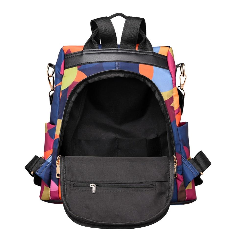HTB1.qXmbv1G3KVjSZFkq6yK4XXaI Casual Oxford Cloth Women Backpack Anti Theft Girls Schoolbags Teenager Travel Daypack Shoulder Bag Colorful Fashion Back Pack