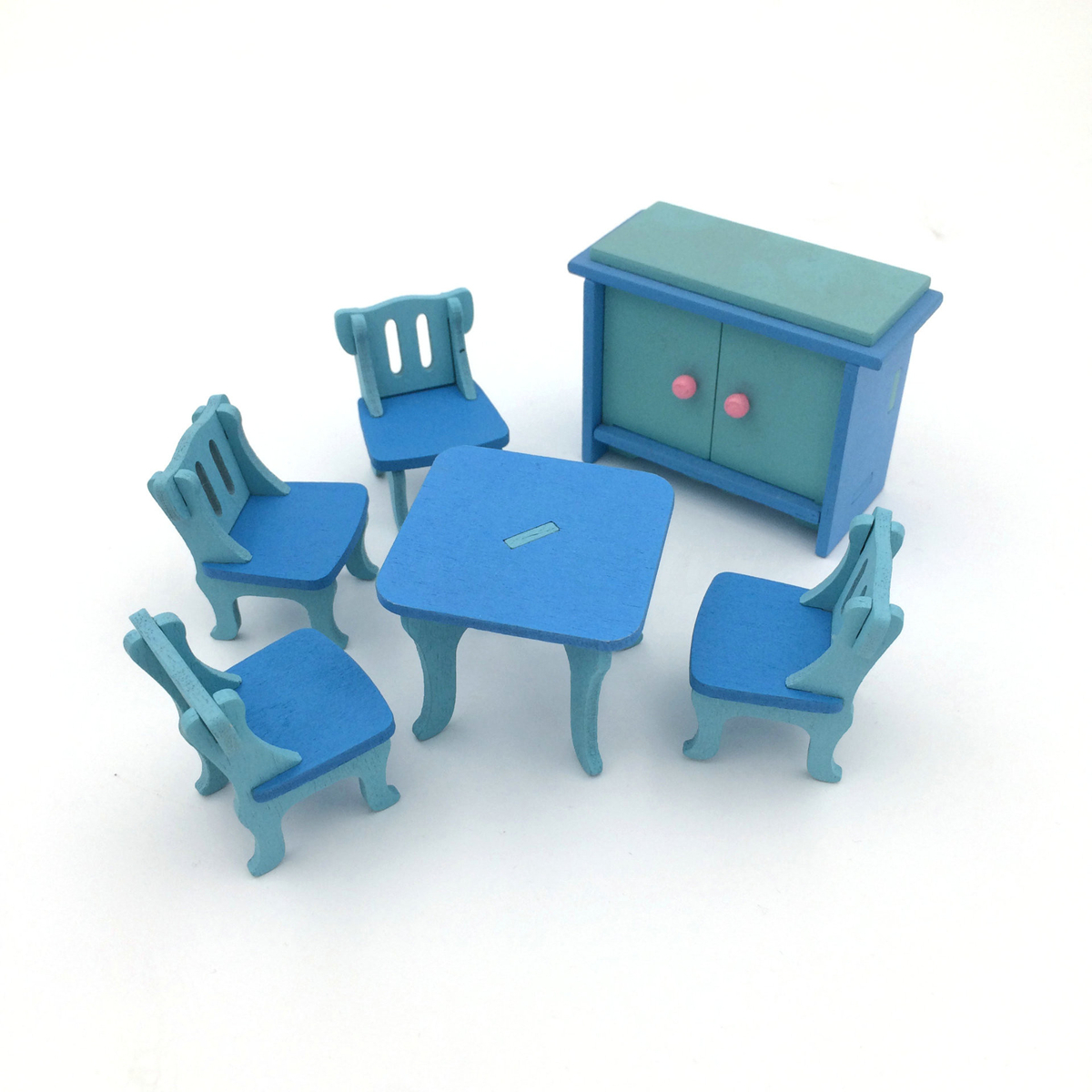 1 set/6pcs Baby Wooden Dollhouse Furniture Dolls House Miniature Child Play Toys Gifts ...