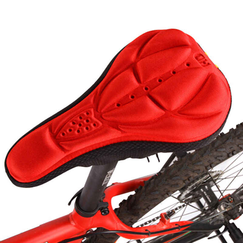 1 Pcs Comfortable Bicycle Cycling Silicone Saddle Seat Cover Soft Bike Gel Cushion Seat Pad 4 Colors Available Free Shipping