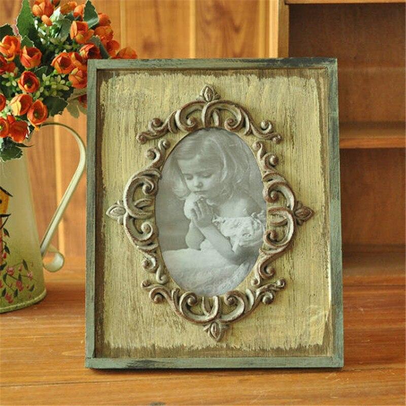 Madera creativa pequeños marcos de fotos nuevo amor Porta Retrato ...