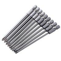 9 шт. PH2 Магнитная отвертки S2 Сталь 100 мм Длинные для электрических отвертка