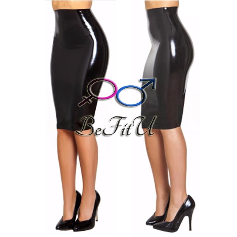 New latex dress skirt seamless without zipper