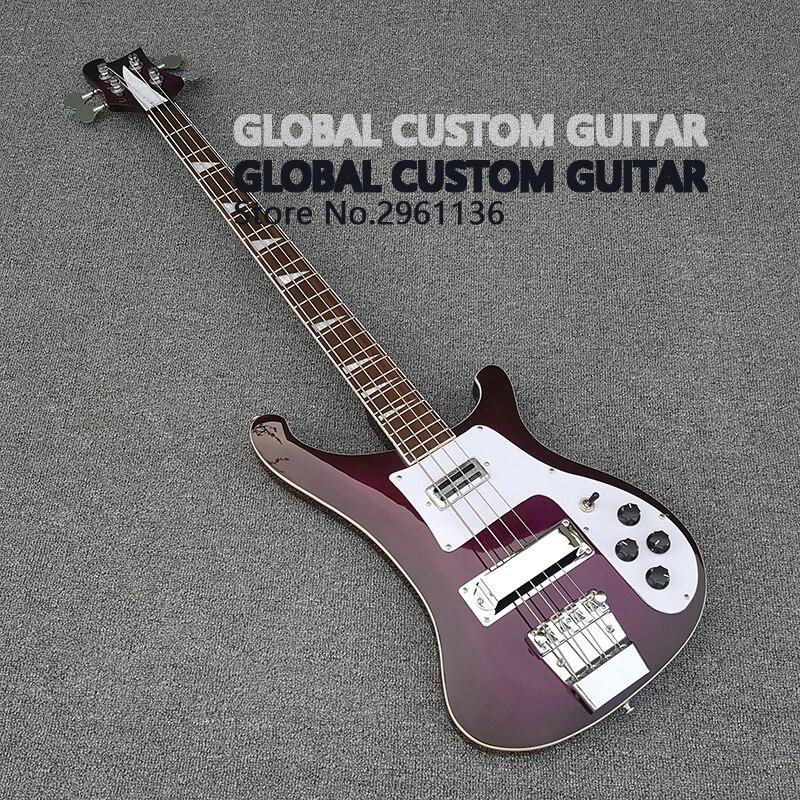 Chinois guitares, Haute qualité Une variété de couleur basse rickenbacker guitare, Réel photos, livraison gratuite Promotionnel activités