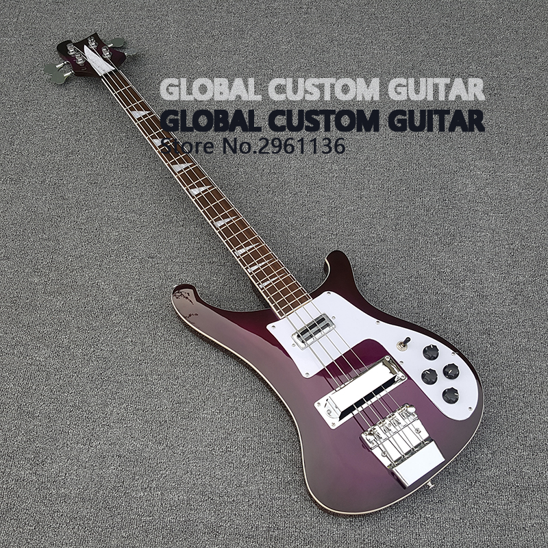 chinese guitars,High quality A variety of color rickenbacker bass guitar,Real photos,free shipping Promotional activities diy no paint high quality three pickup rickenbacker 325 electric guitar give the signature real photos free shipping hot sale