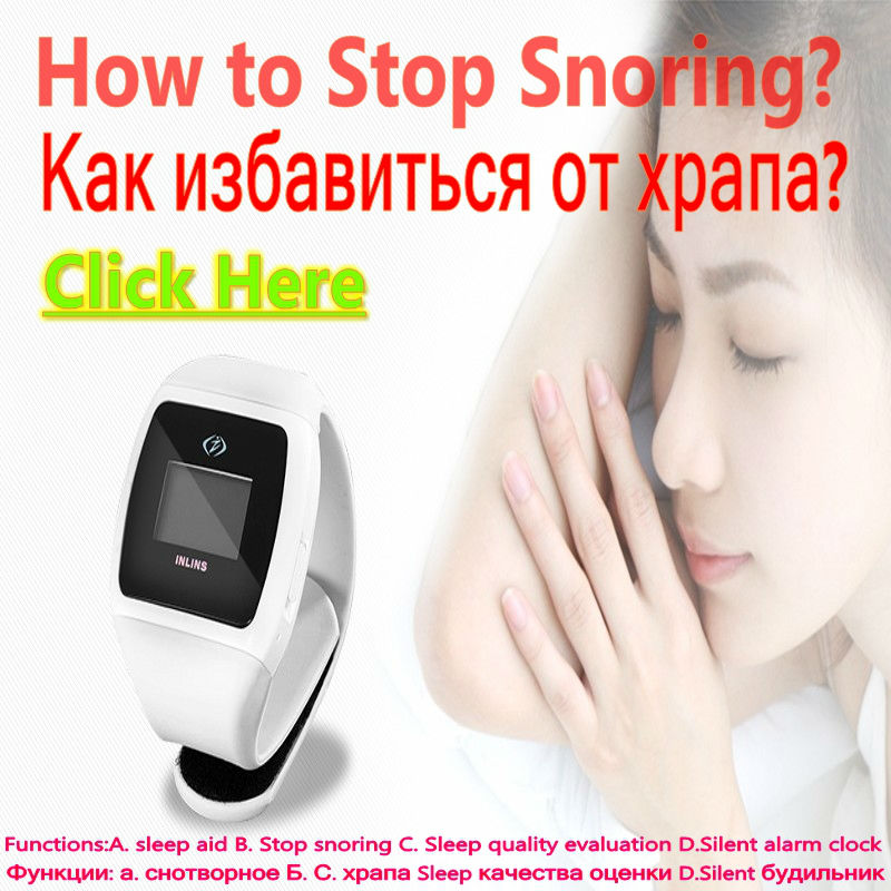 Auto Anti Ronco Stop Snoring White Color Snore Stopper Watch with Alarm Clock inlins snore stopper wristband anti