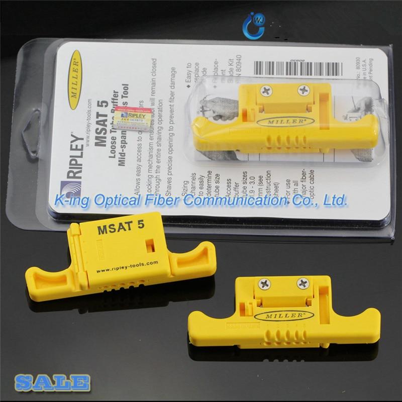 Ripley Miller MSAT-5 MSAT 5 Lâche Tampon Décapant Tube 80930/Mi-Durée Accès Outil 0.9mm à 3.0mm Fiber Optique Stripper