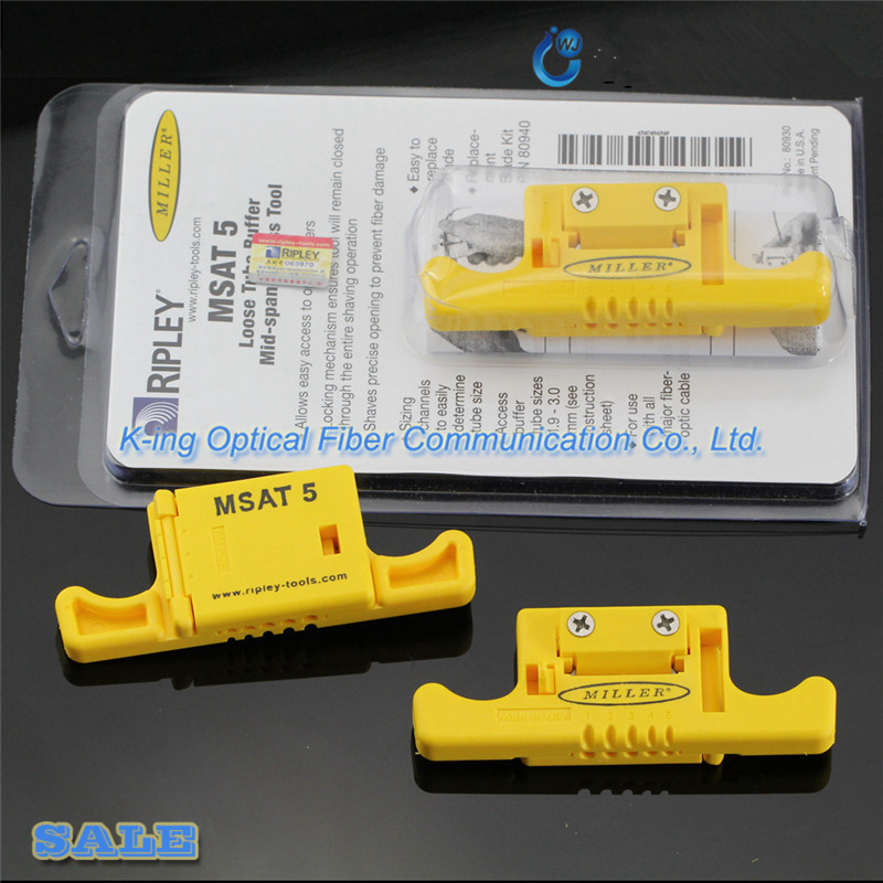 Ripley Miller MSAT-5 MSAT 5 Loose Buffer Tube Stripper 80930/Mid-Span Access Tool 0.9mm to 3.0mm Fiber Optical Stripper