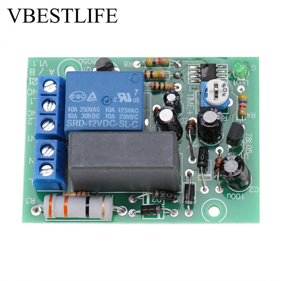 Ac 220v Timer Relay Delay Switch Module Input  Output Delay Off Switch Module Adjustable Timing