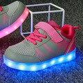 Usb de carregamento ocasional cesta levou crianças shoes com light up crianças simulação de incandescência luminosa sneakers para meninos das meninas
