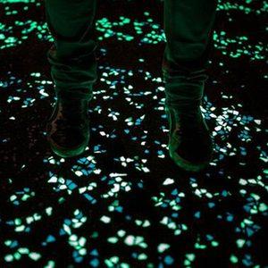 Image 5 - 50/100/300Pcs Glow In The Dark Stenen Gloeiende Stenen Fluorescerende Heldere Pebbles Lichtgevende Stenen Voor Aquarium tuin Decoratie
