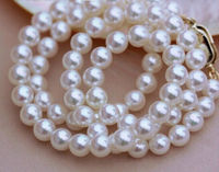 Классический 11 12 м пресноводный белый жемчуг ожерелье 18 дюймов 925 s