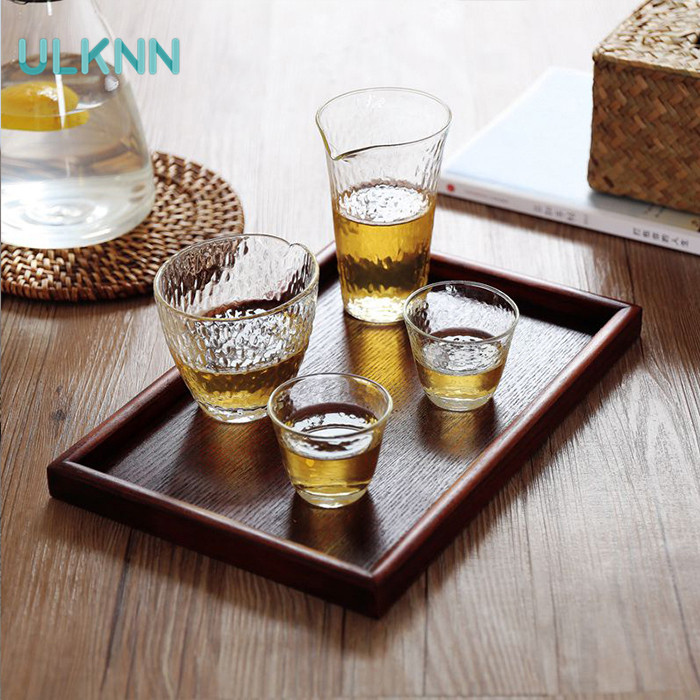 Japan Style Beech Wood Storage Serving Tray Wooden Tableware Restaurant Breakfast Tray Table Coffee Plate