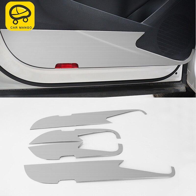 CAR MANGO for Volkswagen Tiguan 2010 2016 Car door Anti kick board cover Sitcker decoration trim