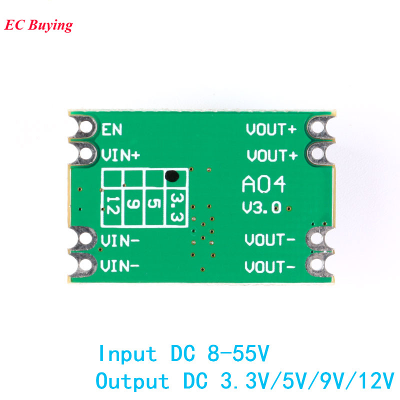 DC DC Step Down Power Supply Module Buck Geregelte Bord 2A Eingang 8-55 V Ausgang 3,3 V/ 5 V/9 V/12 V A04 Elektronische DIY PCB