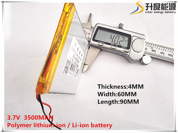 10pcs [SD] 3.7V,3500mAH,[406090] Polymer lithium ion / Li-ion battery for TOY,POWER BANK,GPS,mp3,mp4,cell phone,speaker