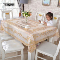 PVC Bronzing Table Cloth Waterproof Disposable Placemat European Big Sizel Table Mat Rectangular Non Slip Insulation Plate Mat`