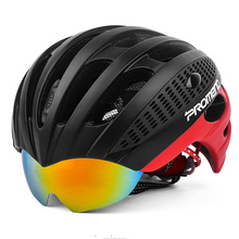 NEW Racing Mens 55-62cm Hydraulical Goggle Bicycle Helmet Road Cycling Safety Bike Helmet Goggles Sports in-mold Cascos Ciclismo