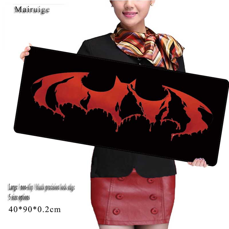 Mairuige Red 900*400mm Batman Logo Large Game Gaming Mouse Pad for CSGO High quality keyboard pad mattress mouse pad for home