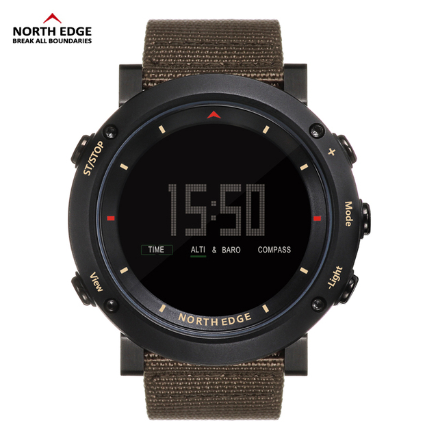 NORTH EDGE Men's sport Digital sports Altimeter Barometer Compass Thermometer watches  2