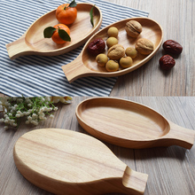 1 Stück Kreative Holz Fisch Geformt Platte Japanischen Stil Sushi Futternapf 24*12,5*3,5 CM Hand-hergestellt Gummi Holz Geschirr