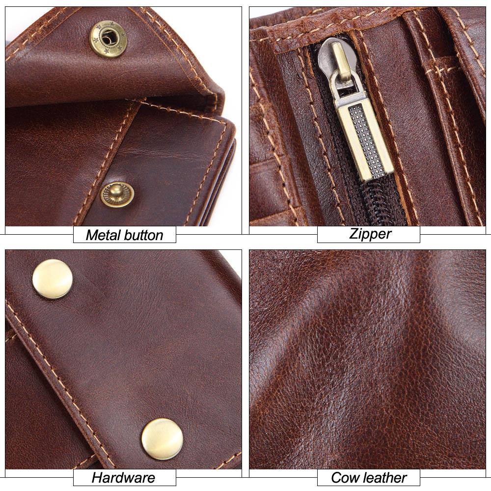 Купить с кэшбэком MISFITS genuine cow leather men wallets coin pocket fashion male mini purses women wallet card holders brand high quality wallet