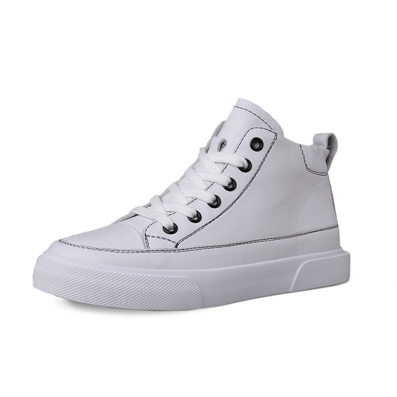 Baskets En Vache Femmes Chaussures Sneaker Cuir Casual High 2019 Loisirs Sneakers Blanc Populaire White Mode Lacent Sneakers Appartements nude Dames Femme Top j4LAq35R