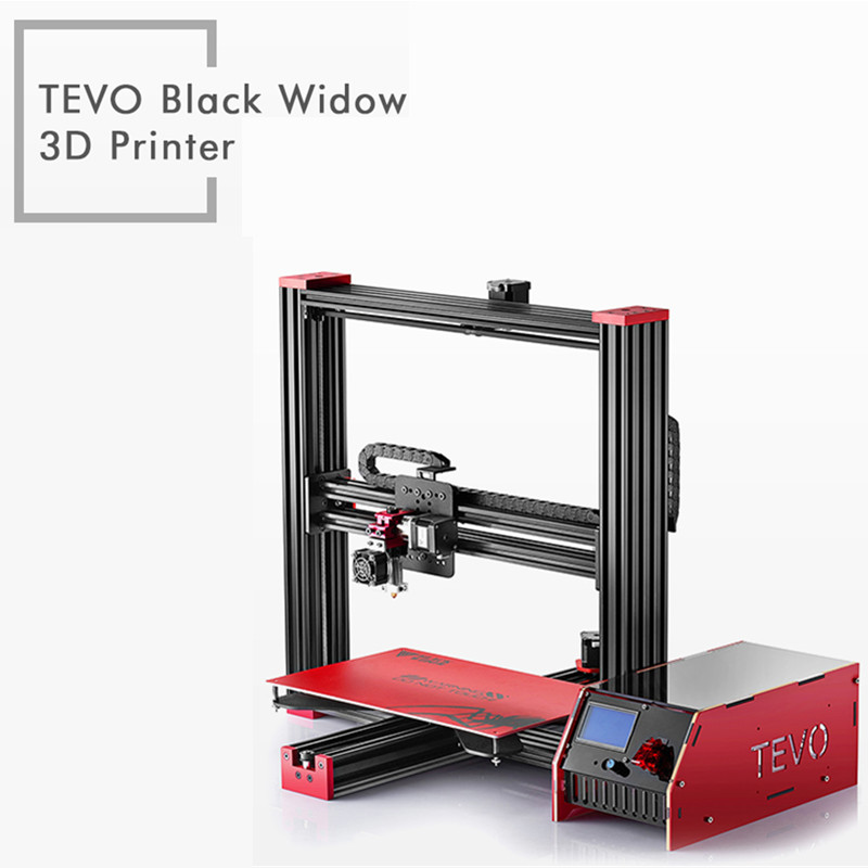 TEVO Black Widow LCD 3D Printer Kit DIY Full Aluminum Large Printing Area 370 x 250 x 300mm OpenBuild Aluminium Extrusion Gift zonestar newest full metal aluminum frame big size 300mm x 300mm auto level laser engraving run out decect 3d printer diy kit