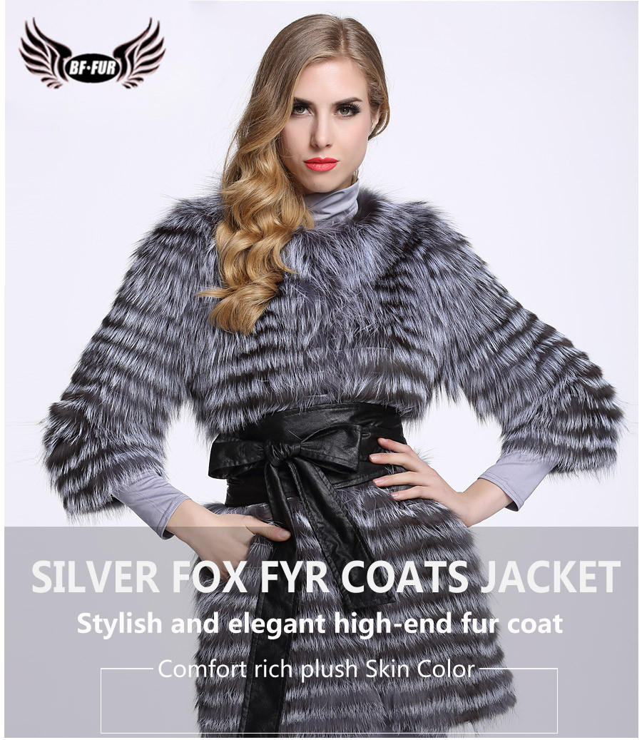 dca9ee76f BF FUR Women 100% Real Genuine Fox Fur Vest Waistcoat Gilet Female Clothing  Outwear Womens Nature Grey Black BF-V0035USD 544.00-798.00/piece