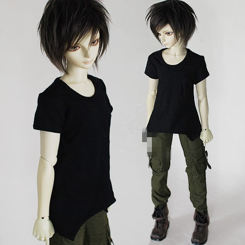 Unisex Irregular Short Style T-Shirt for BJD Doll 1/6 YOSD,1/4 MSD,1/3 SD10,SD13,SD16,SD17,Uncle DOD.AS.DZ.SD Doll Clothes CWB7B