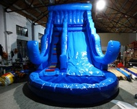New design inflatable water game/Commercial Inflatable Pool Water Slide with Free CE blower